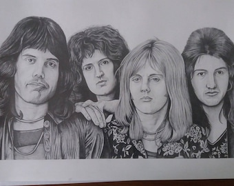 Queen A3 size Hand Signed Limited print