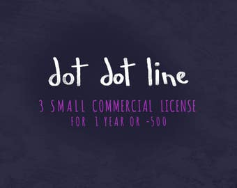 3 Small COMMERCIAL USE LICENSE ** Small reproduction 1 year / -500**