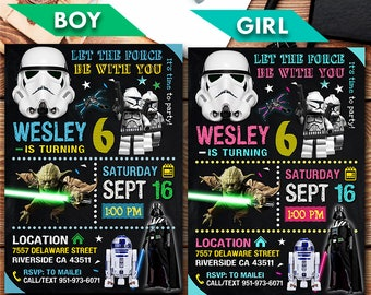Star wars invitation Etsy