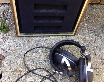 Vintage stereo studio headphones