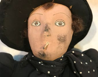 1920's Male Smoking Boudoir Doll