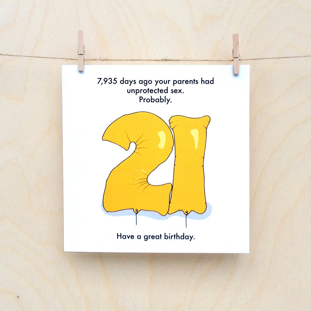 Funny 21st Birthday Cards: Funny 21st Birthday Card Funny 21 Birthday Card