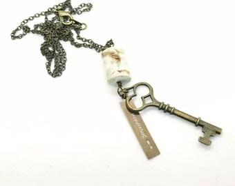 Wanderlust Long Key Necklace