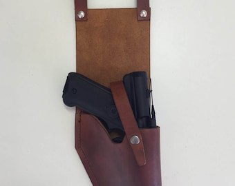 Star Wars 8 oz Real Leather DT-12 Greedo HOLSTER in Brown for Blaster costume Prop