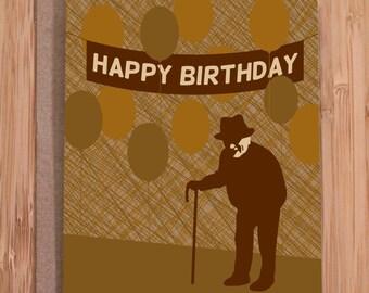 funny birthday card / old bastard / humor