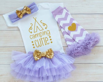 My 1st Camping, Girl Outfit, Baby Girl Camping Shirt, Baby Girl Camping Bopdysuit, My First Camping Outfit, Baby Girl Bodysuit, Cute Shirt