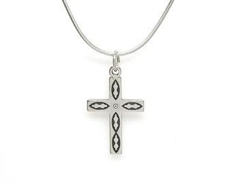 Southwest Design Cross Sterling Silver Religious Faith Charm Pendant Customize no. 2005