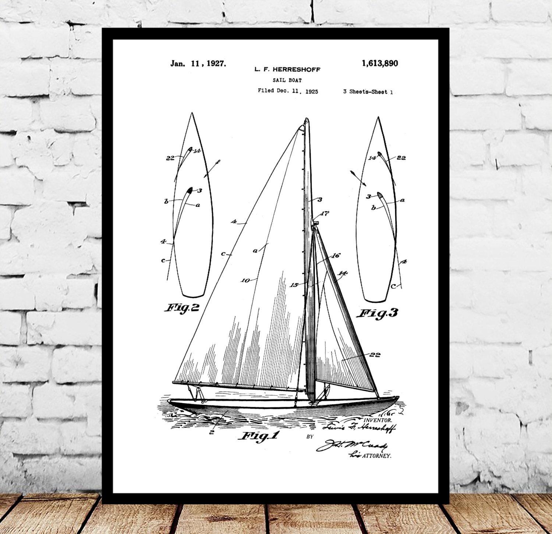 Sailboat print sailboat poster sailboat patent sailboat decor sailboat print sailboat poster sailboat patent sailboat decor sailboat art sailboat wall art sailboat blueprint nautical design malvernweather Image collections