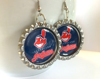 Cleveland INDIANS Baseball Handcrafted Earrings