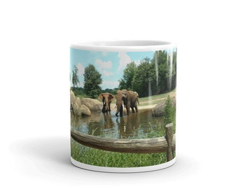 Elephants at North Carolina Zoo Mug