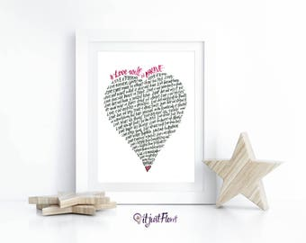 Love is Brave Inspirational Art - 1 Corinthians 13 - Wedding Gift