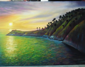 """PhromThep Cape painting oil painting on canvas 28""""X40"""""""