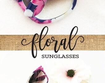 Monogram Sunglasses Bridesmaid Sunglasses Unique Bridesmaid Gift Bridal Shower Gift Floral Bridal Shower Favors Floral Sunglasses (EB3203M)