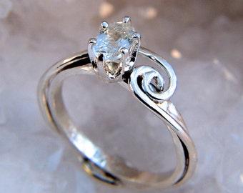 Shiver - White Zircon gemstone ring