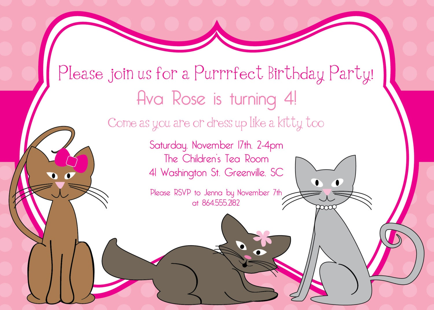 Dress Up Party Invitations for Girls