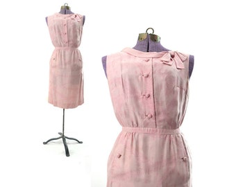 1950s dress, 50s dress, 1950s vintage dress, pink dress, womens dress, silk Dress, vintage 1950s dress, 1950s clothing