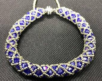 Blue Netted Bracelet