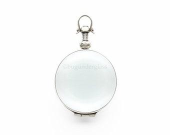 Round Photo Locket Sterling Silver Keepsake Necklace