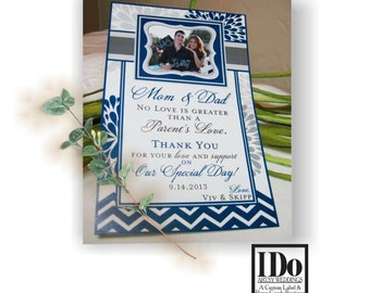 Mother of the Bride Gift, Mother of the Groom Gift, Wine Label for Parents, Thank You Mom & Dad