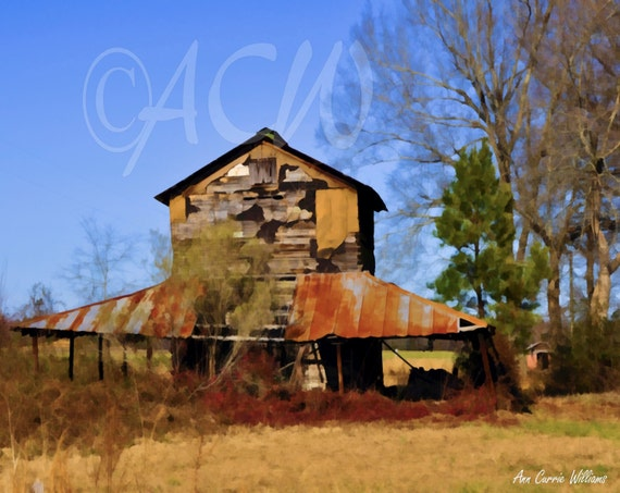Tobacco Barn, Pee Dee Region, South Carolina (canvas)