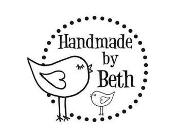 Original Art Bird HandMade By custom rubber stamp