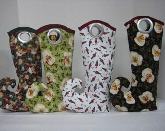 Hostess Gift, Wine Tote Bag, Gift Bag, Wine Gift Bag, Christmas Entertaining, Christmas Decor, Holiday Entertaining, Holiday Decor, Wine Bag