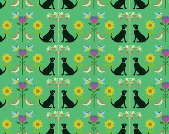 Cat Wrapping Paper - Recycled Wrapping Paper - Bird Wrapping Paper - Flower Wrapping Paper - Floral Wrapping Paper