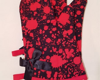 Red Blood Splatter Oven Mitts!