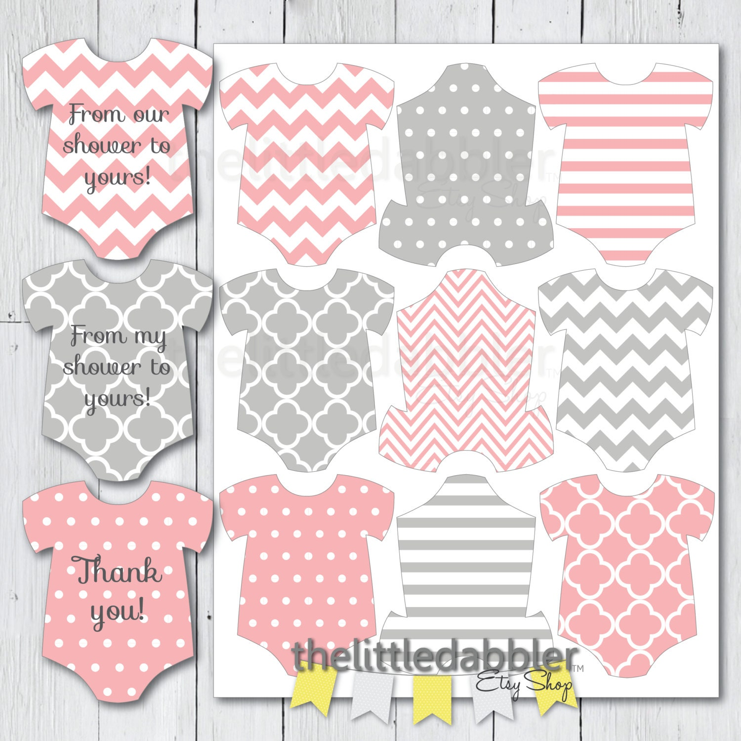 This is an image of Adaptable Free Printable Baby Shower Favor Tags Template