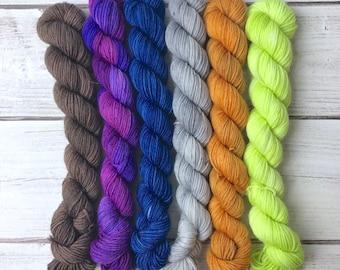 20 Gram Mini Skein - 92 Yards - Assorted Colors - Superwash Merino Nylon - Knitting