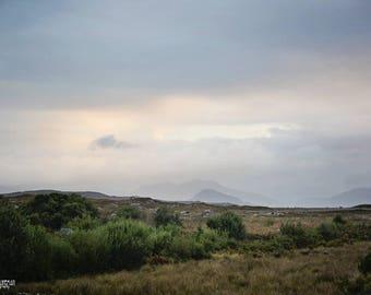 Ireland, Irish, Celtic, Connemara, County Galway, St Patricks Day, Mountain, Gaeltacht, Fine Art Photography, Sofa Art, Green, Gold, Fog