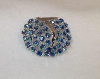 Blue Ab Brooch