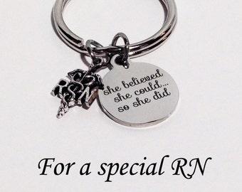 Nurse Gift, Nurse Graduation Gift, RN Graduation, RN Graduation Gift, RN Gift, Nurse, Nurse Gift, Nurse Keychain, Graduation Gift