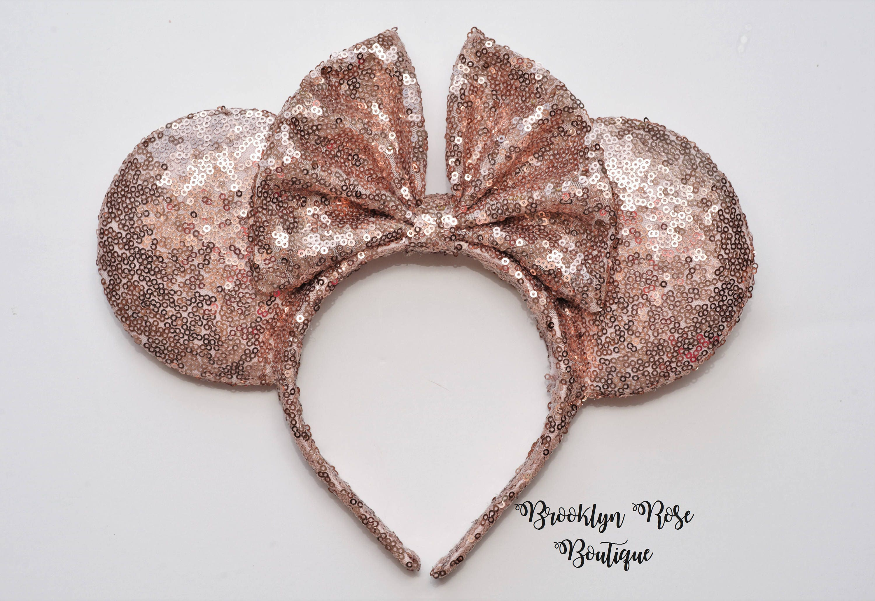 rose gold mickey minnie mouse disney ears headband. Black Bedroom Furniture Sets. Home Design Ideas