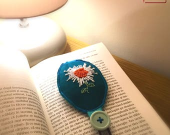 Embroidered cotton bookmark