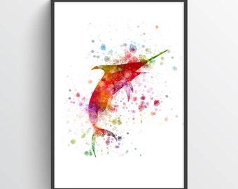 Marlin Poster, Marlin Print, Marlin Wall Decor, Bathroom Decor,Home Decor, Gift Idea