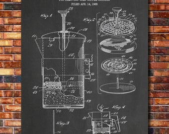 Coffee patent etsy french malvernweather Images