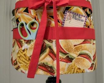 Teacher Apron-Crafter Vendor Utility Apron-Fast Food Feast