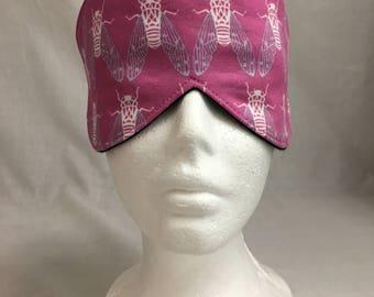 Cicada Cotton Sleep Mask & Case  Set, Travel Mask, Sleeping Mask, Eye Mask, Blindfold