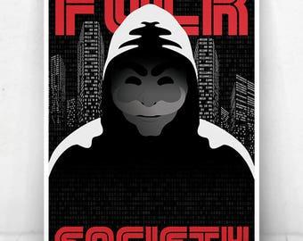 Mr. Robot Illustration / Mr. Robot Poster / Mr. Robot