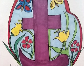 A Little Piece Of Heaven Cross, Resurrection of the Cross Series, Heavy Canvas Print