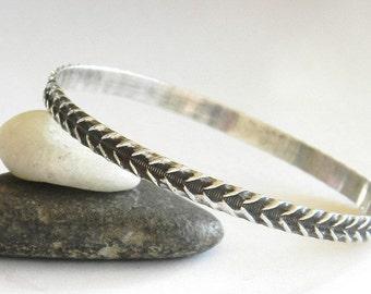 Sterling Silver Bangle Bracelet, Simple Bracelet, Stacking Bangle, Solid Sterling Bracelet