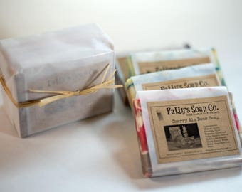 Beer Sampler Variety 4 Pack | Beer Soap | Made with Beer | All Natural Beer Soap | Gift Set for Men | Fatty's Soap Co.