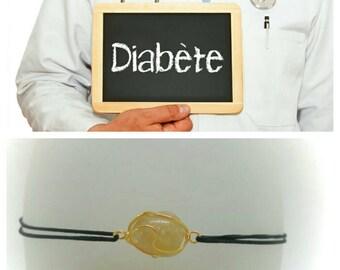 """Diabetes"" Bracelet: Citrine"