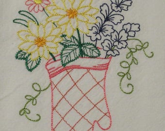 Flowers in a Oven Mitt Towel