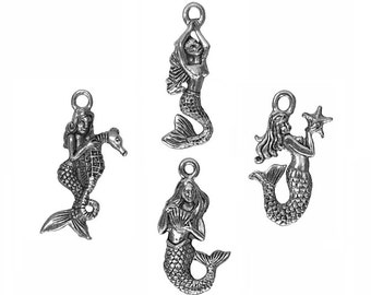 10% Off 4 Assorted Mermaid Charms Collection