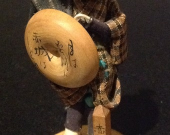 SALE 30% OFF - Rare Vintage Japanese Warrior Doll