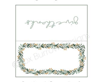 Harvest Thanksgiving 2017 Printable Place Cards (Instant Download)
