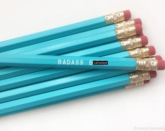 Pencil Set. Feminist Pencil Set. School Supplies. Bad*ss B*tch.