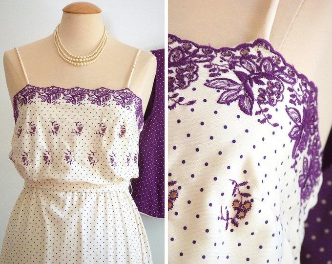Spaghetti strap polka dots midi dress and matching jacket